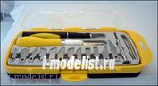 4008 Jas Набор ножей с цанговым зажимом (алюминий), 16 предметов