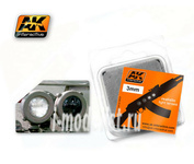AK-221 AK Interactive Линзы прозрачные черные/белые BLACK/WHITE 3mm