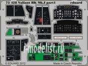 73428 Eduard 1/72 Фототравление для Valiant BK.MK.I interior S.A.