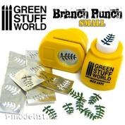 1371 Green Stuff World Инструмент для создания веток с листьями, желтый / Miniature Branch Punch YELLOW