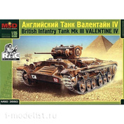 3550 Layout 1/35 British tank Valentine Iv