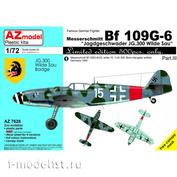 AZ7628 AZ Model 1/72 Самолет Messerschmitt Bf 109G-6