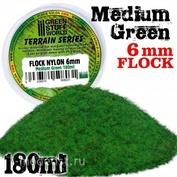 10304 Green Stuff World Средне-зелёная трава, 6 мм - 180 мл / Static Grass Flock 6 mm - Medium Green - 180 ml