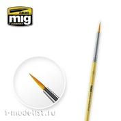 AMIG8612 Ammo Mig Round synthetic brush 2/0