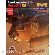01E033 HK Models 1/32 Нос бомбардировщика Avro Lancaster B Mk.I Nose Art Kit