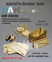 DM35236 DANmodel 1/35 Набор из шпона для изготовления 2 ящиков