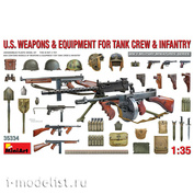 35334 MiniArt 1/35 Weapons and equipment of American tank crews and infantry (world war II)