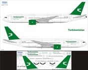 772-007 Ascensio 1/144 Декаль на самолет боенг 777-200 (Turkmenistan)