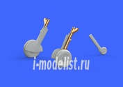 672135 Eduard 1/72 Дополнение для Spitfire Mk. IX legs BRONZE w/ 5 spoke wheels, smooth tire