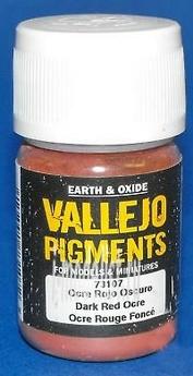 73107 Vallejo Pigment hood. Ochre dark red/DARK RED OCRE