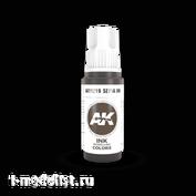 AK11219 AK Interactive Краска акриловая сепия INK, 17 мл