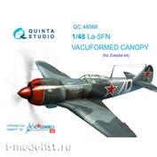 QC48066 Quinta Studio 1/48 Набор остекления Ла-5ФН (для модели Звезда), 1 шт