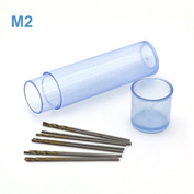 42563 JAS Mini drill HSS 6542 (M2) titanium coated d 0.7 mm 10 pcs.