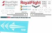 767300-07 PasDecals 1/144 Decal on Boeng 767-300 RoyalFlight