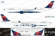 333-004 Ascensio 1/144 Декаль на самолёт Airbu A330-300 (Delta)