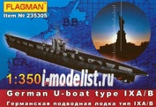 235305 Флагман 1/350 German U-boat type IX A/B (Profi set)