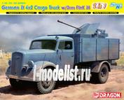 6828 Dragon 1/35 German 3t 4x2 Truck w/2cm FlaK 38 (2 in 1)