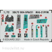3DL72004 Eduard 1/72 3D Декаль для МиGG-21ПФМ SPACE