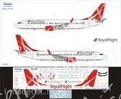 738-018 Ascensio 1/144 Декаль на самолет боенг 737-800 (Royall Flght)
