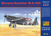 92119 RS Models 1/72 Morane Saulnier MS.406 France Navy (4 decal variants for France, Switzerland, Croatia)
