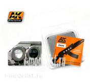 AK-206 AK Interactive Линзы прозрачные белые WHITE 2mm