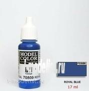 70809 Vallejo Краска акриловая `Model Color Королевский синий/Royal blue