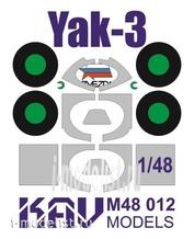 M48 012 KAV Models 1/48 Окрасочная маска на остекление Яk-3 (Звезда)