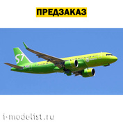 7037P2 PRE-ORDER Zvezda 1/144 Passenger Airliner Airbus A320NEO + wheels and decal S7 Airlines