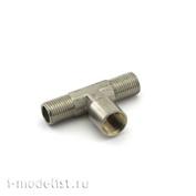 3011 Jas Разветвитель, 1 вход (гайка), 2 выхода (штуцер), металл