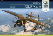 70007 ArmaHobby 1/72 Самолет PZL P.7a Expert Set 1939 с картинами из сентябрьской кампании 1939 года