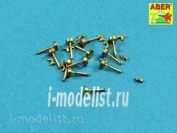 16 105 Aber 1/16 Wing nuts with turned bolt x 12 pcs