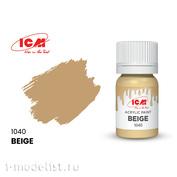 C1040 ICM Краска для творчества, 12 мл, цвет Бежевый (Beige)