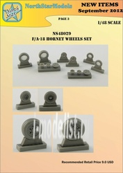 NS48029-a North Star 1/48 F-18 A/B/C/D Hornet wheels No mask series