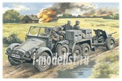 72461 ICM 1/72 Krupp L2H143 Kfz.69 c пушкой Раk 36- германский легкий тягач Krupp