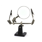 1361 JAS  Подставка-держатель с увеличительным стеклом 2 зажима