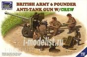 RV35042 Riich 1/35 British Army 6 Pounder Infantry Anti-tank Gun with Crew (4 Figures)