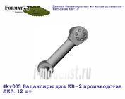 kv005 Format72 Balances for 1/72 KV-2 production LB. 12 PCs