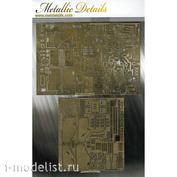 MD4845 Metallic Details 1/48 Фототравление шасси для F/A-18C (HobbyBoss)