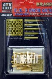 Ag35031 Afvclub 1/35 Us 3inch Gun Brass Ammo Set