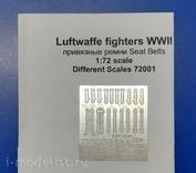 72001 Different Scales 1/72 Привязные ремни для истребителей Люфтваффе Второй Мировой Войны
