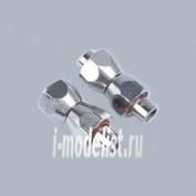 8121 Jas Переходник гайка M12x1 - трубка - гайка M12x1 (головка компрессора 1205, 1206 - переходник 8115) комплект с прокладками
