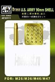 AF35111 AFVClub 1/35 Us Army 90mm Shell Set