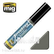 AMIG1251 Ammo Mig STREAKINGBRUSHER COLD DIRTY GREY (Краска с тонкой кистью аппликатором)