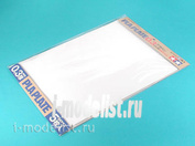 70122 Tamiya Пластик белый, толщина 0,3мм, размер В4 (364х257мм) 5 листов.