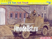 6714 Dragon 1/35 Armored 1/4 Ton 4 x 4 Truck w/.50 caliber Machine Gun