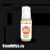 AK11051 AK Interactive Краска акриловая 3rd Generation Luminous Flesh 17ml
