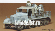 35050 Tamiya 1/35 German 8ton tractor with 4 STV. 20mm Zenith. with five figures