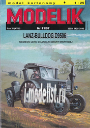 MD11/07 Modelik 1/25 LANZ-BULLDOG D9506