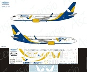 738-033 Ascensio 1/144 Scales the Decal on the plane Boeng 737-800 (Azur Air Ukraine)