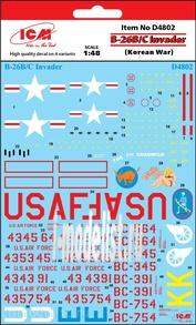 D4802 ICM 1/48 Декаль B-26B/C